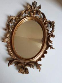 petit miroir ancien rocaille doré style classique