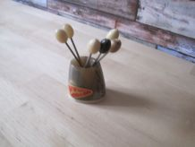 6 ancien pics à escargot en corne vintage cuisine