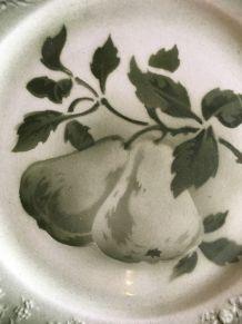 Cinq assiettes anciennes Lunèville K & G