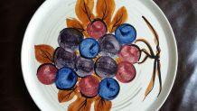 Plat à tarte Motif raisin