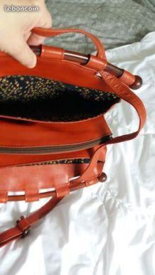 Sac rouge vintage style Art Déco