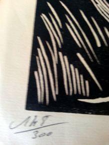 Estampe originale n° 148 sur 300 signée A GAIN