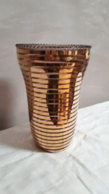 vase avec dorure 1950 superbe 23x14cm