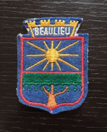 Écusson en tissu Beaulieu sur mer  5x6,5 cm