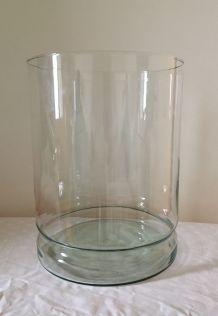 Vase ou photophore en verre H.32cm/D.25 cm