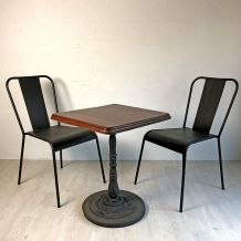 Ensemble bistrot table et chaise vintage 30's