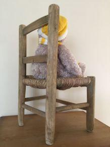 Petite chaise bois et paille