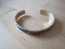 Bracelet metal argenté reglable mixte