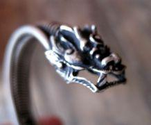 Joli bracelet a tête de Dragon   réglable mixte