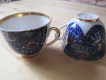 2 soucoupes et 2 tasse à thé anciennes  en porcelaine USSR