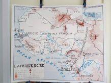 carte géographique scolaire Rossignol des années 50