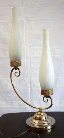 Lampe de table 2 feux – style Arlus/Lunel– circa 50