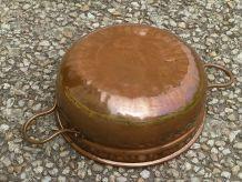 cache-pot , jardiniere  en cuivre, vintage