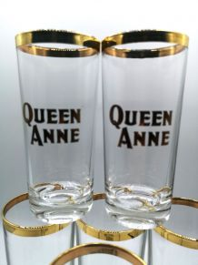 Lot de 6 verres Queen Anne