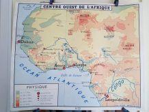 carte géographique scolaire Rossignol des années 60