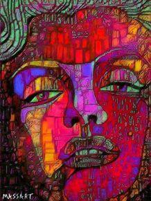"""""""Marilyn"""" Reproduction de l'œuvre numérique N29 - 24 x 32 cm"""