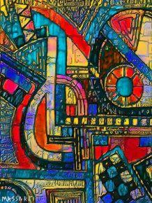 """""""Abstraction"""" Reproduction de l'œuvre numérique N40"""