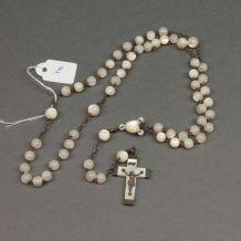 Chapelet ancien XIXème siècle en perles de nacre - rosary