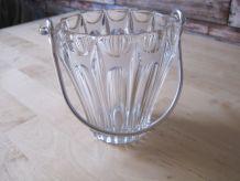 Sceau à glaçons en verre Vintage