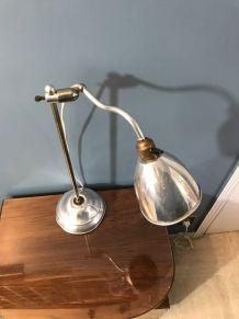 Lampe de bureau en chrome 1950 vintage