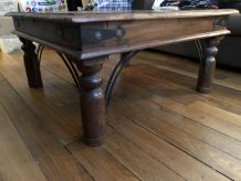 Table basse indienne bois massif