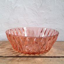 Saladier vintage en verre rose