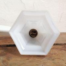 Applique art déco porcelaine et opaline