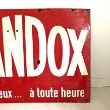 Plaque émaillée VIANDOX vintage 50's