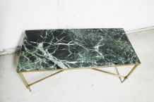 Table en marbre vert des Alpes 1970's