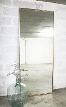 RARE - 2m06 / Miroir doré ancien 1950's