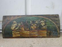 ancienne huile sur panneaux 1947