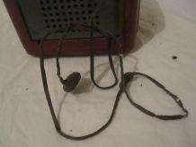 Ancienne radio tsf bakélite Clarville et son antenne