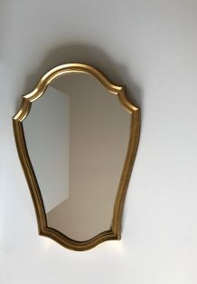 Miroir ancien cadre bois doré