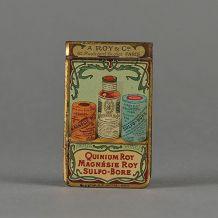 Carnet  publicitaire en tôle lithographiée 1908