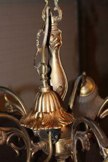lustre en bronze 5 branches