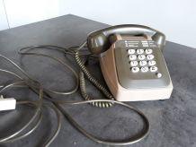 Téléphone vintage à clavier Marron et Kaki
