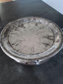 Ancien chauffe plat  en métal argenté
