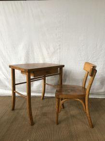 Bureau vintage Baumann et sa chaise
