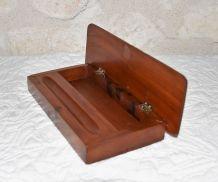 Boîte à plumiers ou autre bois noyer incrustation de nacre
