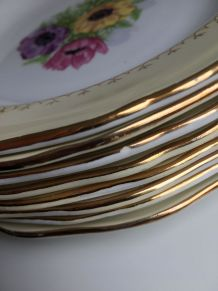 Lot de 8 assiettes creuses modèle Coopelia l'amandinoise