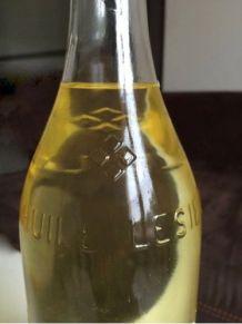Ancienne bouteille Huile Lesieur, années 50