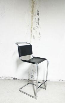 RARE - Chaise de bar haute 1970 attribuée à Marcel Breuer