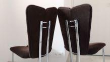 Paire de chaises traineaux - 1970 - Forme de coeur