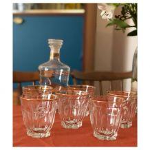 Carafe + 6 verres