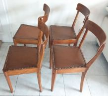 Lot 4 chaises Diago années 50