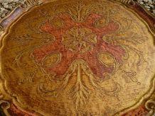 plateau  en bois style florentin , vintage
