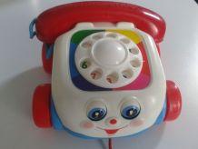 BRADERIE ADORABLE TELEPHONE FISHER PRICE VINTAGE