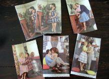 lot 25 cartes postales vintage originales  années 60 vierges
