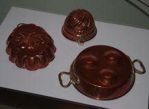 moules à gâteaux cuivre