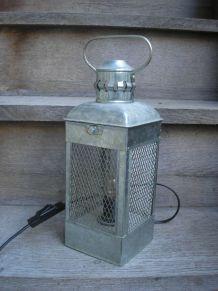LAMPE A POSER LANTERNE ZINC